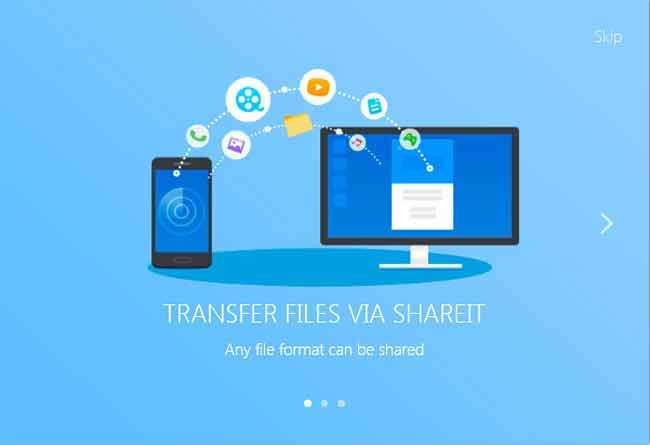 What type of files that you can share using SHAREit