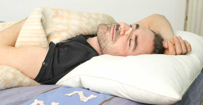 Breathing Right at Night with Nasal Dilator Strips
