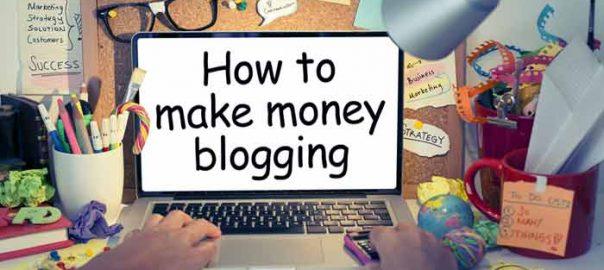 Blogging for money online